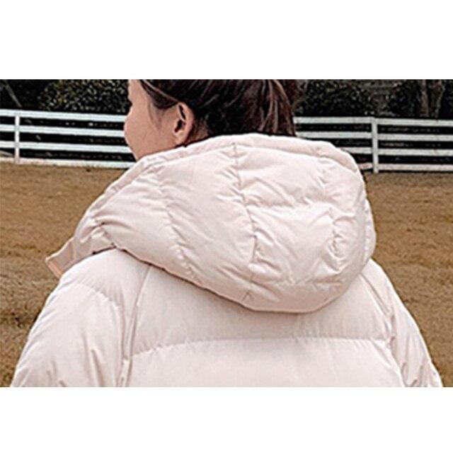 2020 nouvelles femmes Parkas veste mode solide épais chaud hiver à capuche veste manteau hiver parkas solide veste de survêtement 6