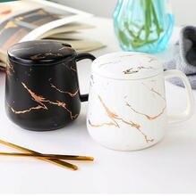 Мрамор простая керамическая Подарочная кружка коробка чая завтрак