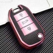 TPU cuero funda para mando a distancia del coche para Peugeot 208, 308, 408, 508, 307, 2008, 3008, 4008 del caso clave de coche remoto accesorio