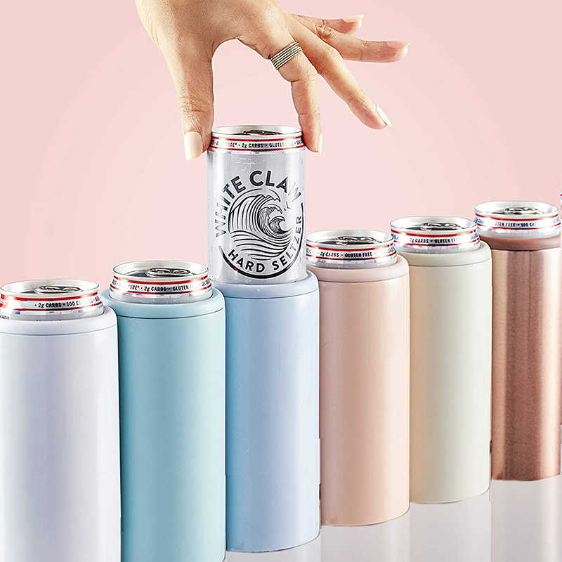 12oz Bir Termos Kreatif Double Wall Vacuum Insulated Mug 304 Stainless Steel Bir Cooler Kurus Coke Can Cooler