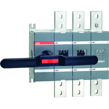 ABB ot1000e03 3 p 1000A disconnect switch, without handle and adapter