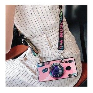 Image 5 - 화웨이 P 스마트 블루 라이트 케이스 2019 Y7 2019 Y6 2019 P30 P20 라이트 프로 노바 4e 3 3i 커버 카메라 스트랩