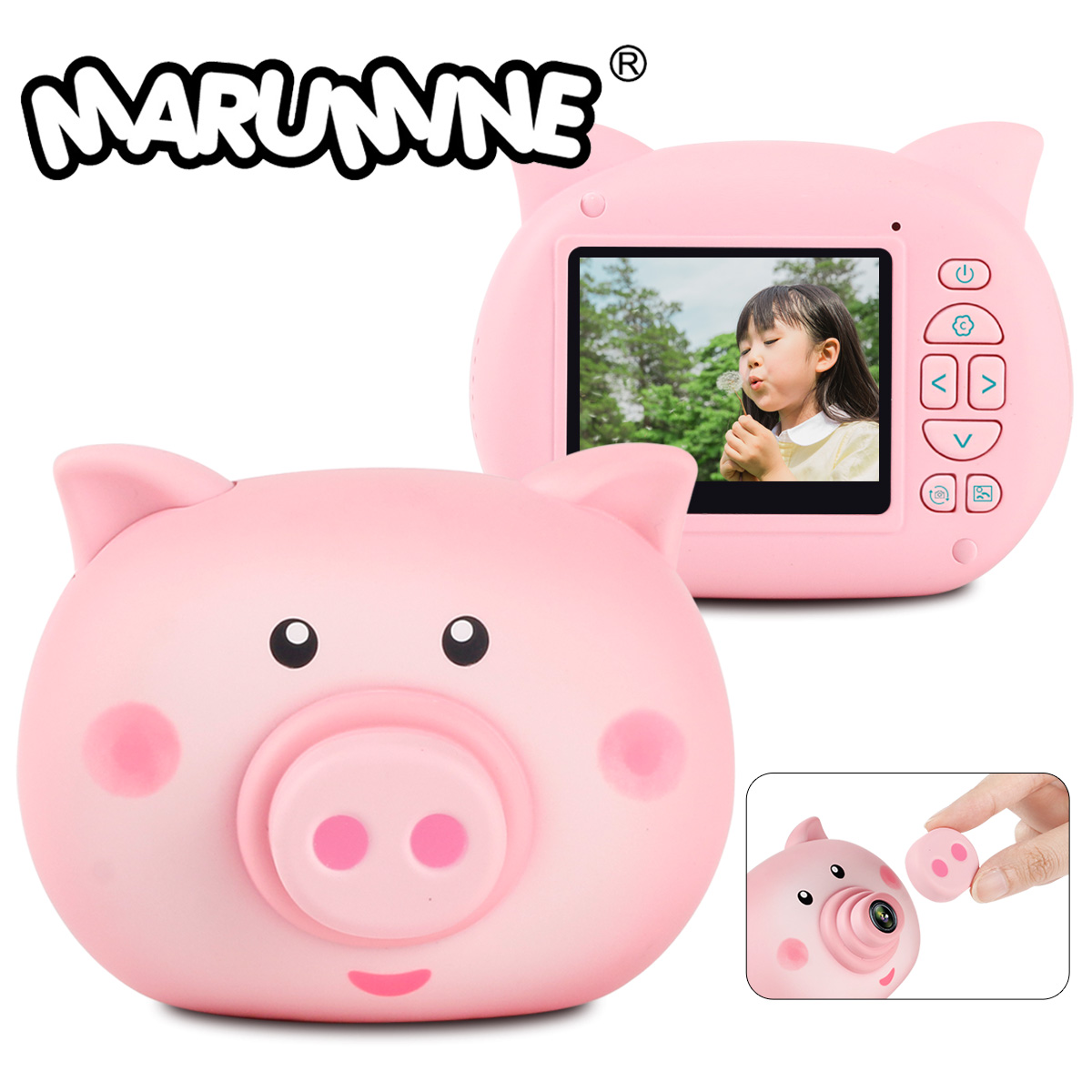 Marumine HD Kids Digital Camera 12.0 Mega Piexl With 2.3 Inch Screen Electronic Timed Shooting Camera Toy Photography