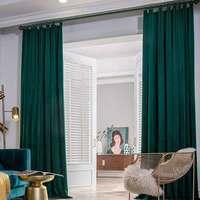 Enhao cortinas para janela  cortinas para janela de luxo  grossas  para quarto  uso personalizado
