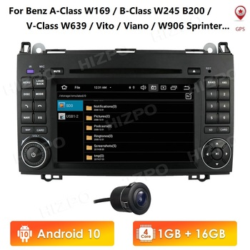 2Din 1G RAM Android 10 GPS Autoradio For Mercedes/Benz/A-Class W169/B-Class W245/V-Class W639 7Inch 4G Car Multimedia player image