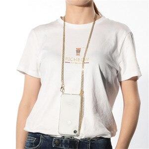 Ремень Через Плечо шнур цепи лента ожерелье с металлическими цепочками чехол для телефона Huawei P40 P30 P20 P10 pro lite Mate 30 20 10 проклеар крышка