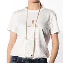 Crossbody Strap Cord Chain Tape Necklace Metal Chain Phone C