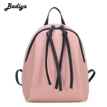 Mini Backpack Women Solid Small Women's Tassel Leather Back Pack Small Shoulder Bags for Travel Teenage Knapsack School Bag women s leather backpack mini tassel backpack women pu back pack backpacks for teenage girls rucksack small travel bag txy519