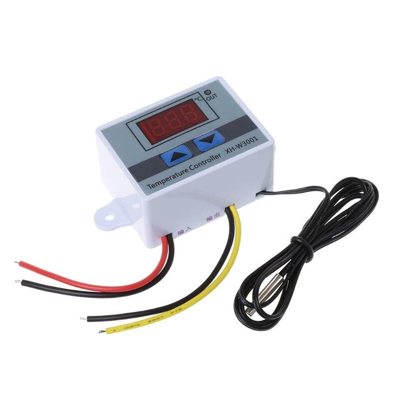 2020 nouveau numérique LED thermomètre température contrôleur AC220V 10A Thermostat incubateur contrôle micro-ordinateur sonde Station météo