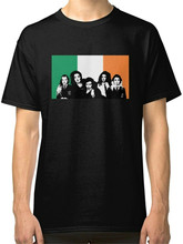 Derry Girls Irish Flag Men'S Black Tees Shirt Clothing Custom Screen Printed Tee Shirt(China)