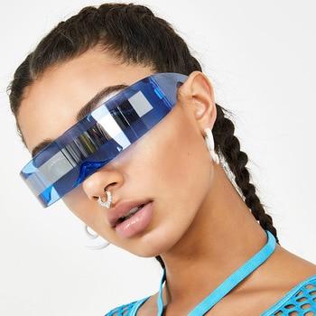 2020 Luxury Super Cool Sunglasses Women Weird Siamese Fashion Glasses Vintage Sunglasses for men Gafas de sol hombre/mujer