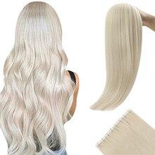 [Últimos 12 meses] fita de ugeat no cabelo virgem das extensões do cabelo 100% cabelo humano real 10a grau extensões de cabelo fita ins cor pura