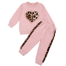 6M-5Y Toddler Kid Baby Girl Winter Clothes Sets Pink Long Sleeve Leopard Tops Blouse Long Pants trousers autumn Outfit Tracksuit стоимость