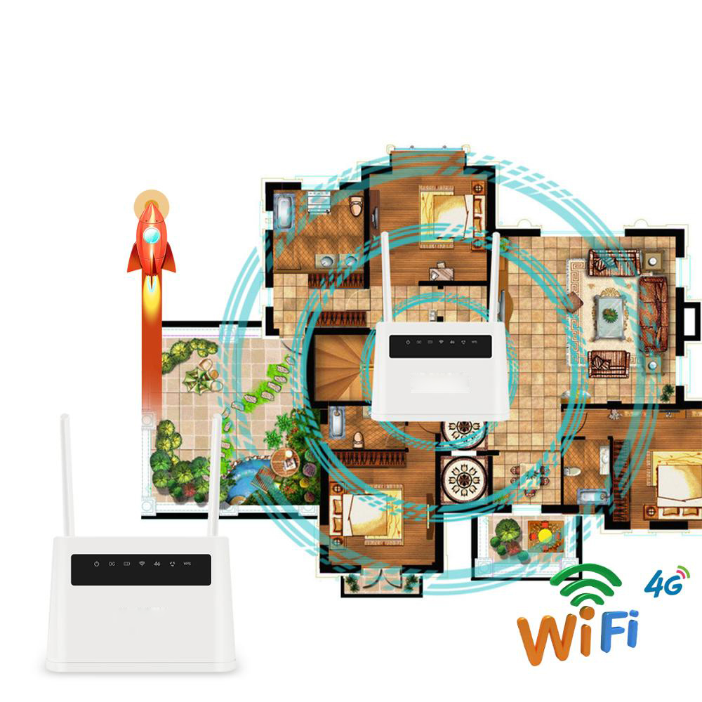 Roteador wi-fi built-in bateria 4g sim roteador