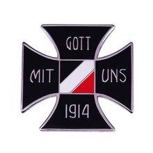 Médaille de la veste en croix de fer de l'allemagne, Badge patriotique de la première guerre mondiale, Gott Mit Uns, 1914