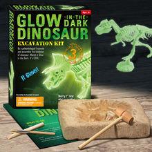 Светящаяся модель каркаса динозавра игрушки для копания Детские