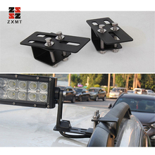 ZXMT 2pcs Car roof rack light bracket Crossbar Luggage-rack bumper bull bar Mounting holder for Led Light Bar work 4x4 4WD