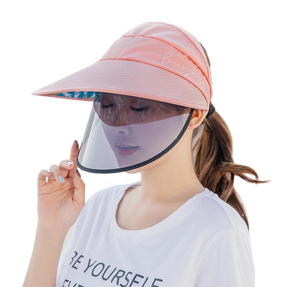 Women Solar Visor Hat, Wide Brim UV Protection Summer Beach Cap with Adjustable Visor for Outdoor Activities