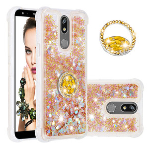 Glitter Sequin Liquid Quicksand Case For LG G6 G5S V40 K4 K8 Quicksand Cover For ZTE Z981 Z982 Moto E4 E6 Plus With Buckle 2019