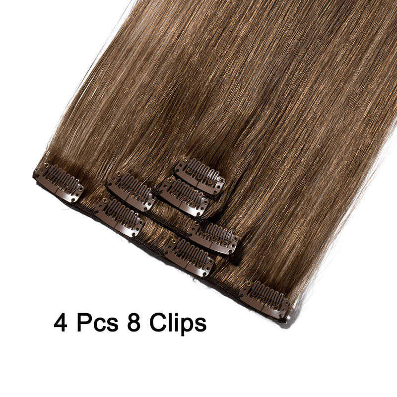 """SEGO 10 """"-22"""" 40g Gerade Clip in Menschliches Haar Extensions Doppel Gezogen Maschine Machte Nicht-remy Menschenhaar Clip in Extensions 4 PCS/S"""