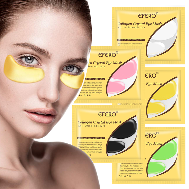 Crystal Collagen Eye Mask Face Mask Anti-Aging Anti Wrinkle Remove Dark Circles Eye Bags Gel Sheet Mask Moisturizing Eye Patches