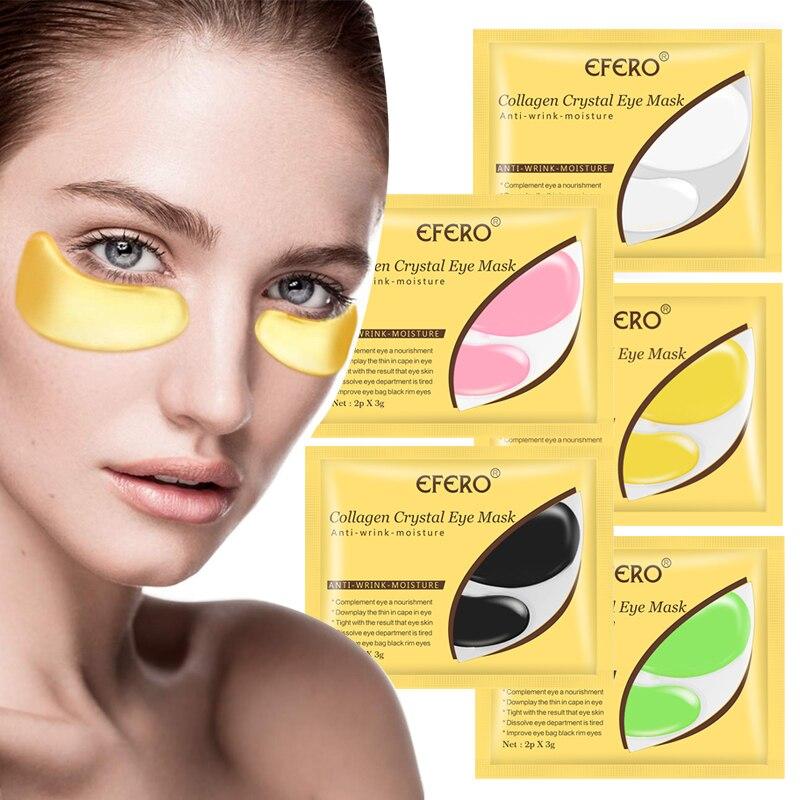 Crystal Collagen Eye Mask Face Mask Anti-Aging Anti Wrinkle Remove Dark Circles Eye Bags Gel Sheet Mask Moisturizing Eye Patches