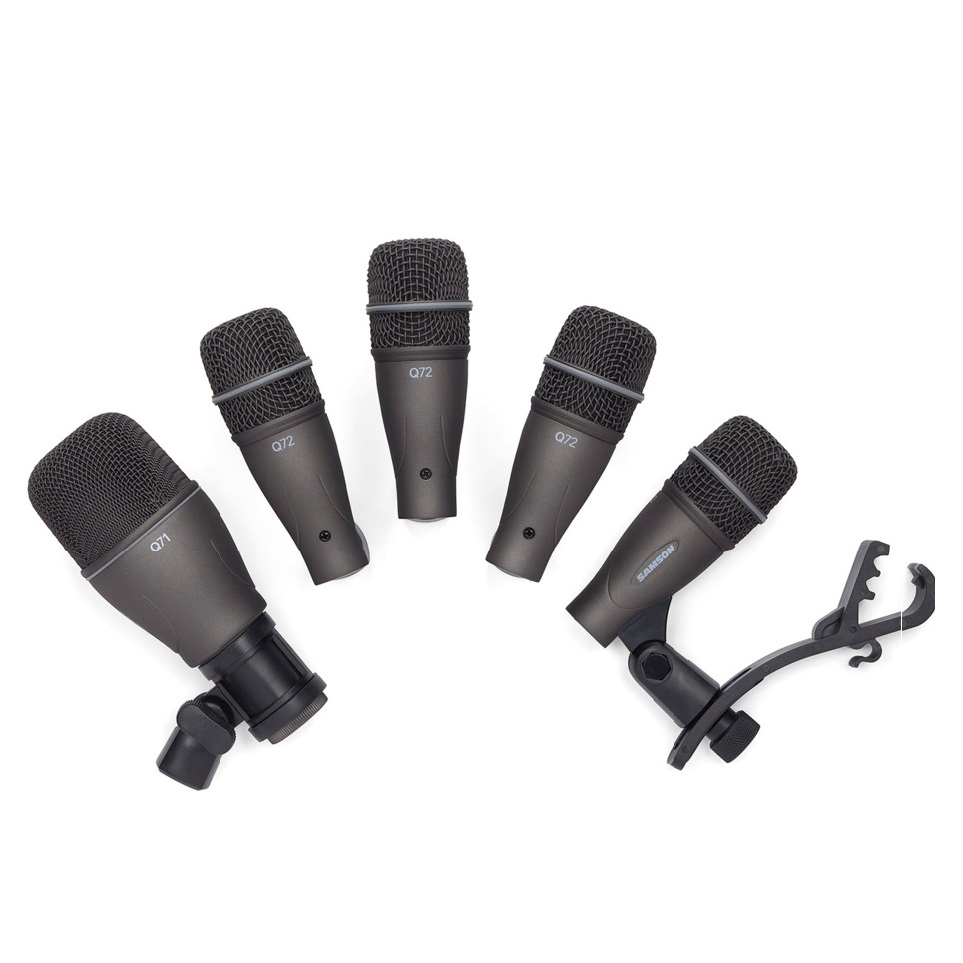 Samson Dk705 5-piece Drum Microphone Kit Recording Set Q72 Snare Tom/q71 Mic Live Performance Studio