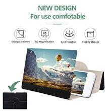 12Inch Universele Mobiele Telefoon Screen Vergrootglas 3D Vergrootglas Movie Video Versterker Desktop Holder Stand Telefoon Screen Amplifying