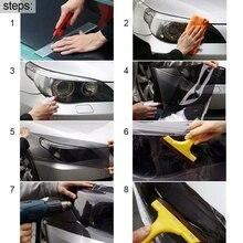 Car Film Transparent Headlight Light Bumper Hood Paint Protection Durable 1pc 120*40cm Auto Accessories