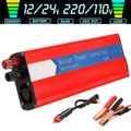 6000W כוח מהפך הותאם סינוס גל LCD תצוגת DC 12 V/24 V כדי AC 110 V/ 220V שמש 2 USB רכב שנאי להמיר עם תקע