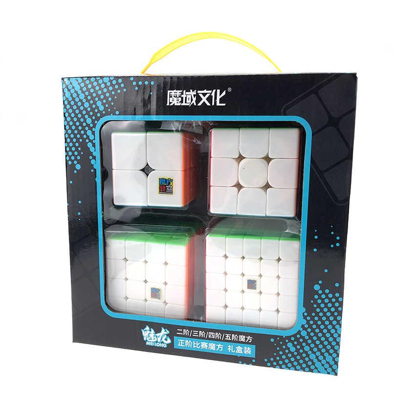 Moyu MofangJiaoshi 2 × 2 3 × 3 4 × 4 5 × 5 競争マジックキューブセット 4 個スピードキュービング教室スピードキューブパズルのおもちゃ子供