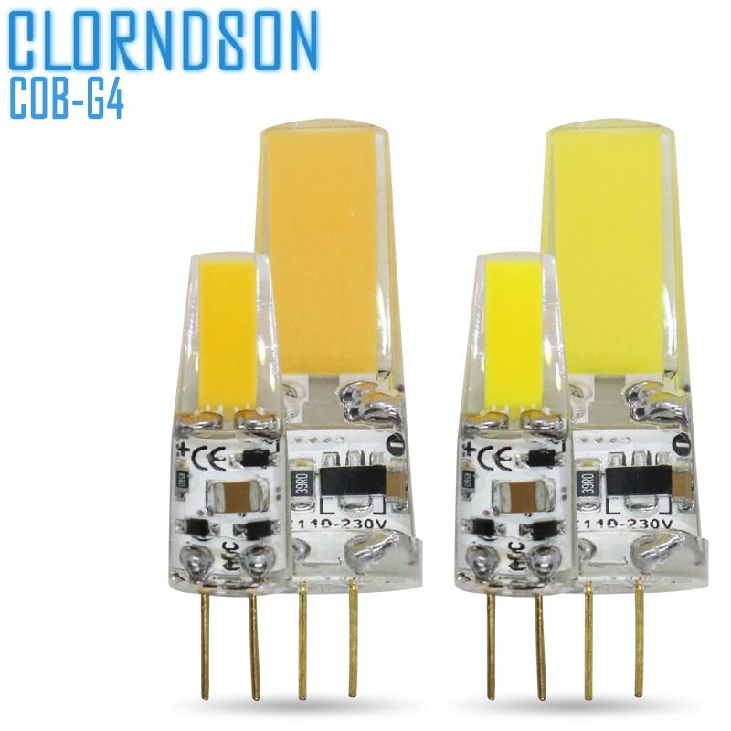 Dimmable COB светодиодный G4 2 Вт 5 Вт светильник, лампа AC/DC 12 В 220 В Светодиодный точечный светильник, люстра, заменяющая эквивалентные 50 Вт галогенные лампы Галогенные лампочки      АлиЭкспресс