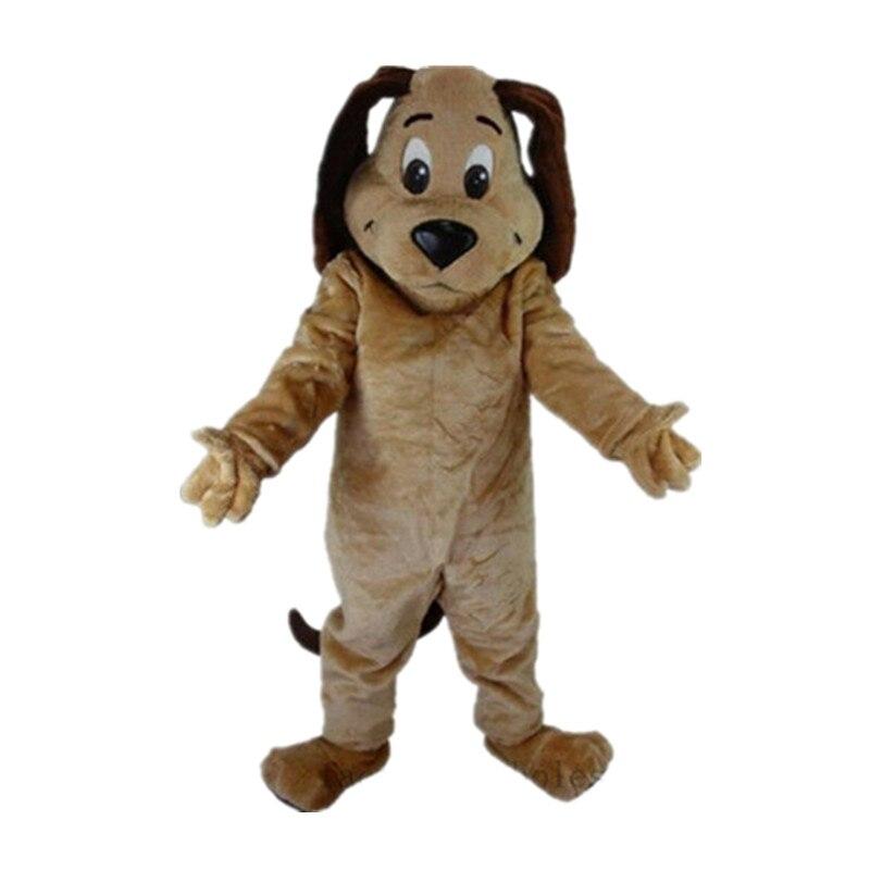 2019 Hot Tan chien mascotte Costume Animal thème fête Cosplay robe à la main cadeau intéressant drôle dessin animé personnage vêtements cadeau