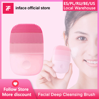 InFace Facial Cleaning Brush Deep Cleansing Face Waterproof Silicone Electric Sonic Cleanser|Powered Facial Cleansing Devices| |  -