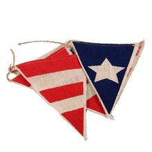USA Flag Pennant Bunting Banner Independence Day Thanksgiving Day American National Day Party Decoration
