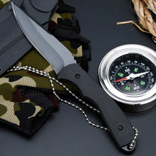 440C Stainless Steel Fixed Blade Hunting Knives G10 Handle Outdoor Survival Utility Knife Hunting Karambit Tactical Knives blue ergonomic hollowed out handle hunting knife for plumbing leggings diving knife survival knives fixed blade with scabbard