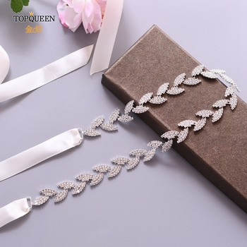 TOPQUEEN S198-S Wedding Belt for bride Bridal sash Silver belt dress Accessories Bride Waistband Wedding Sashes Bridal Belts