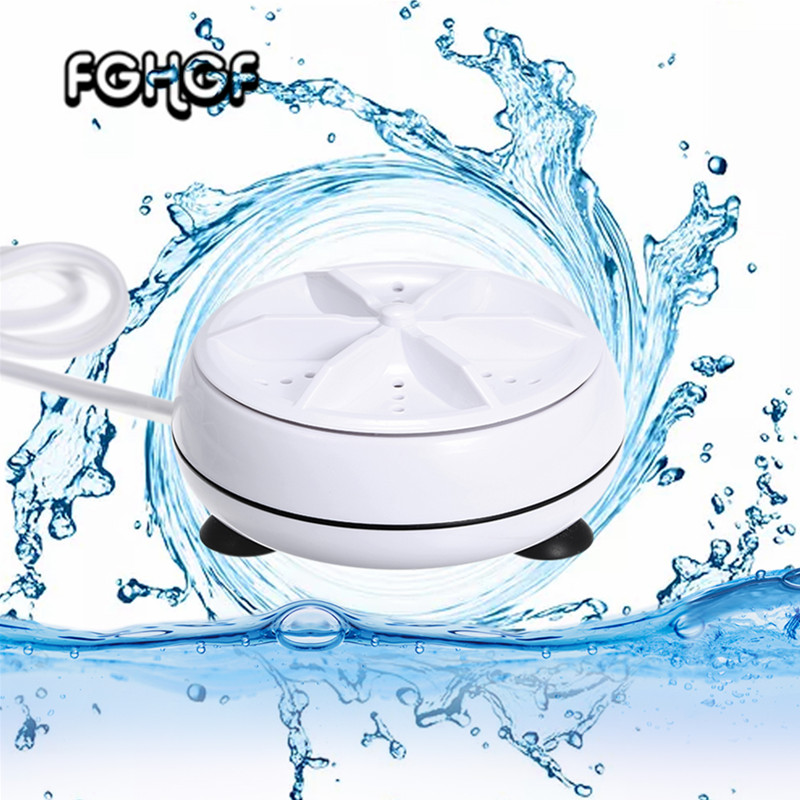 Mini Washing Machine USB Cable Portable Personal Rotating Turbine Washer Convenient For Travel Home Business Trip
