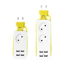 цена на EU Electrical Plug Socket USB Socket Power Strip Surge Protector Extension Sockets Wall Charger Desktop Hub