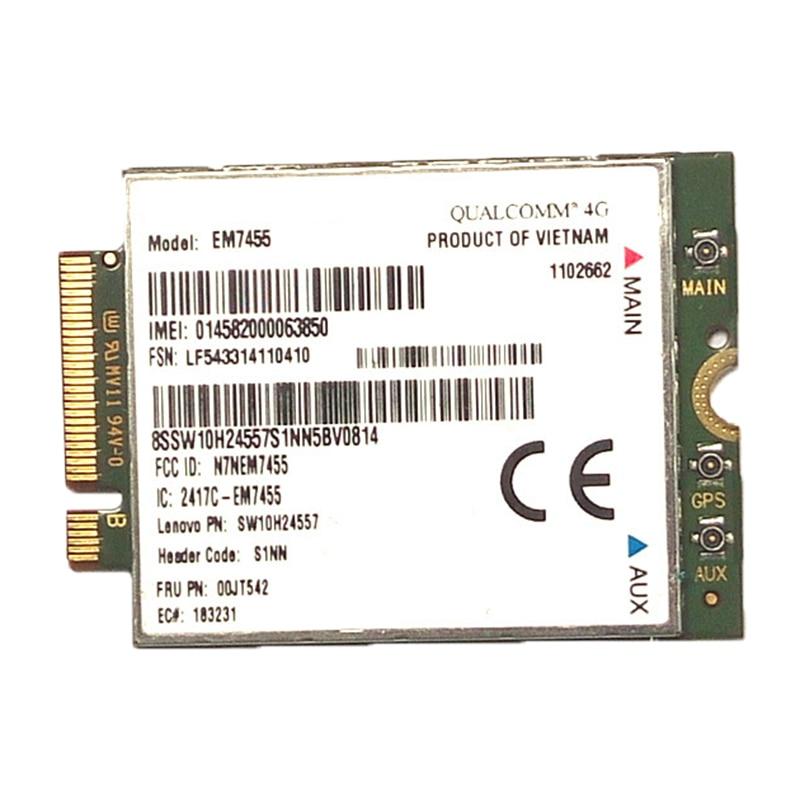 Wwan-Card Lenovo Antenna Wireless 4G LTE For Sierra Airprime Em7455/gobi6000 FRU:S1NN