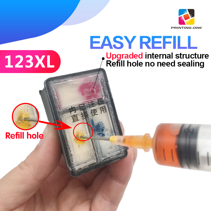 Ink-Cartridge Refillable 2620 3639-Printer 123XL 2130 Hp 123 3630 Hp Deskjet 2630 Compatible title=