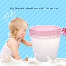 Baby Storage Bowl Leakage-proof Milk Powder Storage Bowl Anti-Hot Temperature Kid Food Bowl With Holder Microwave Oven Available(China)