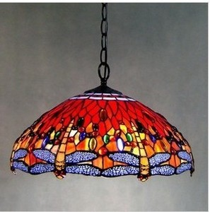 Tiffany Stained Glass Blue Ceiling Glass Lamps Mediterranean Style 20/30/40/50/60cm With E27 Led Chain Pendant Light Luminarias|Pendant Lights|Lights & Lighting -