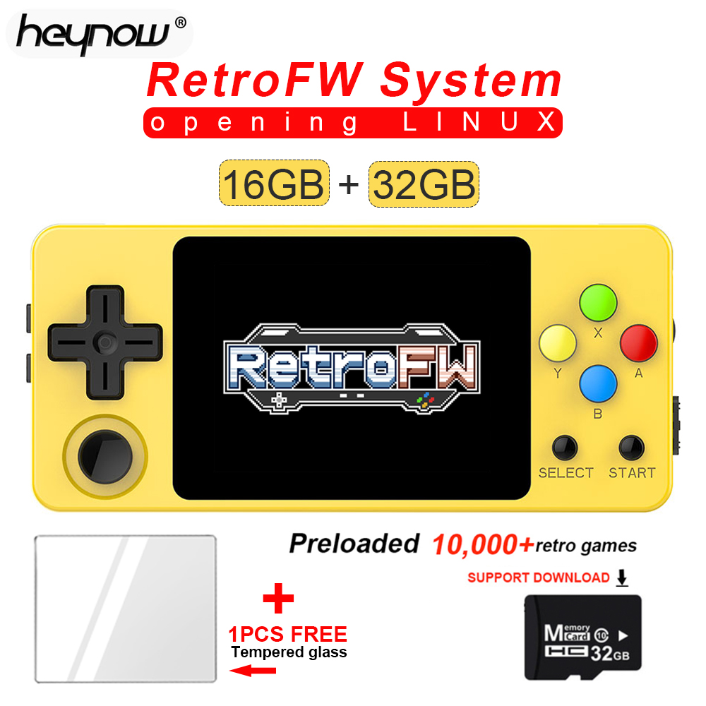 NEW LDK Game Console RetroFW LINUX System DIY 2.6inch 16GB Nostalgic Mini Children Retro Game Video Player 360 Degree Control