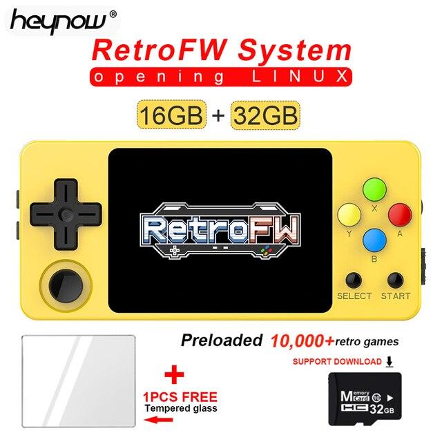 Consola de juegos LDK RetroFW LINUX, sistema DIY de 2,6 pulgadas 16GB, Mini reproductor de Video Juego Retro nostálgico para niños, Control de 360 grados