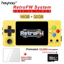 YENI LDK Oyun Konsolu RetroFW LINUX Sistemi DIY 2.6 inç 16GB Nostaljik Mini Çocuk Retro Oyun Video Oynatıcı 360 derece Kontrol