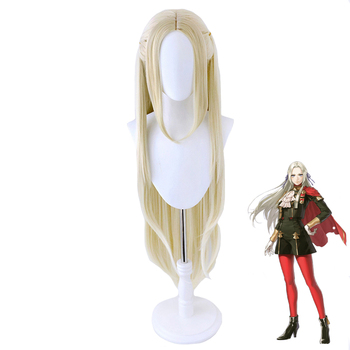 Fire Emblem ThreeHouses Edelgard Von Fresberg Long Wig Cosplay Costume Heat Resistant Synthetic Hair Women Carnival Party Wigs
