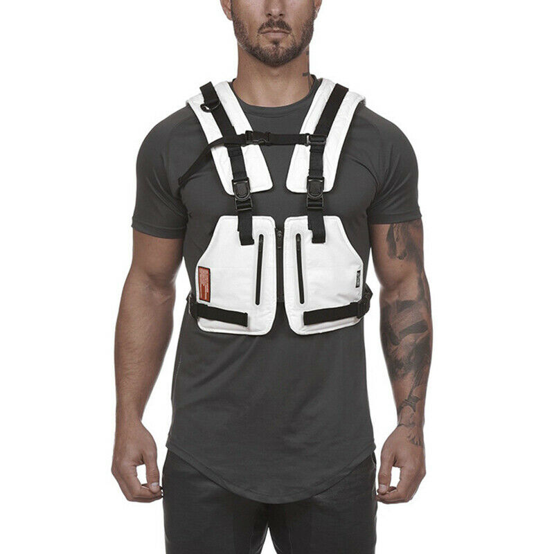 Multi-function Vest Outdoor Sports Fitness Men Protective Tops N66