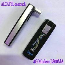 Alcatel l800 um toque l800ma 4g usb dongle fdd 1800/2100 mzh desbloqueado 4g modem frete grátis