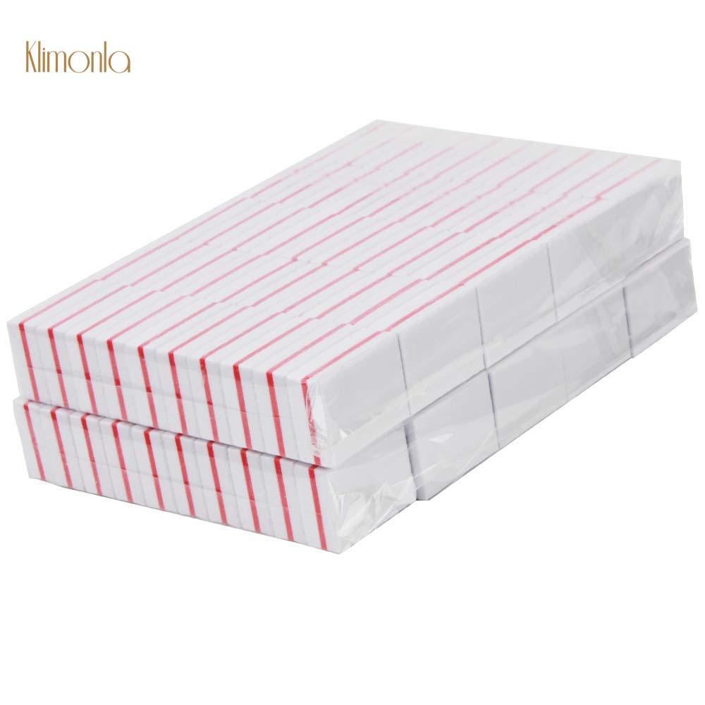 branco 200 pcs esponja mini prego buffer bloco profissional arquivo de unhas 100 180 emery placa